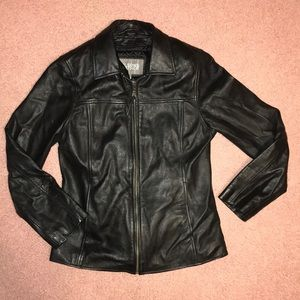 Wilson Leather women's Black Leather Jacket Size M